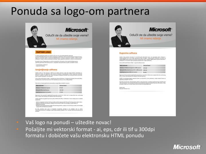 Ponuda sa logo-om partnera