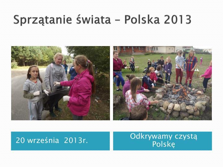 Sprzątanie świata – Polska 2013