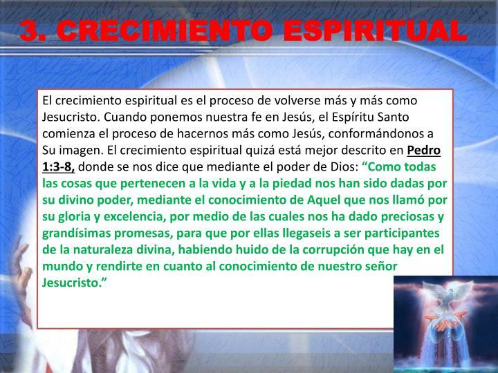 3. CRECIMIENTO ESPIRITUAL