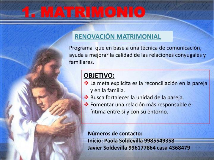 1. MATRIMONIO