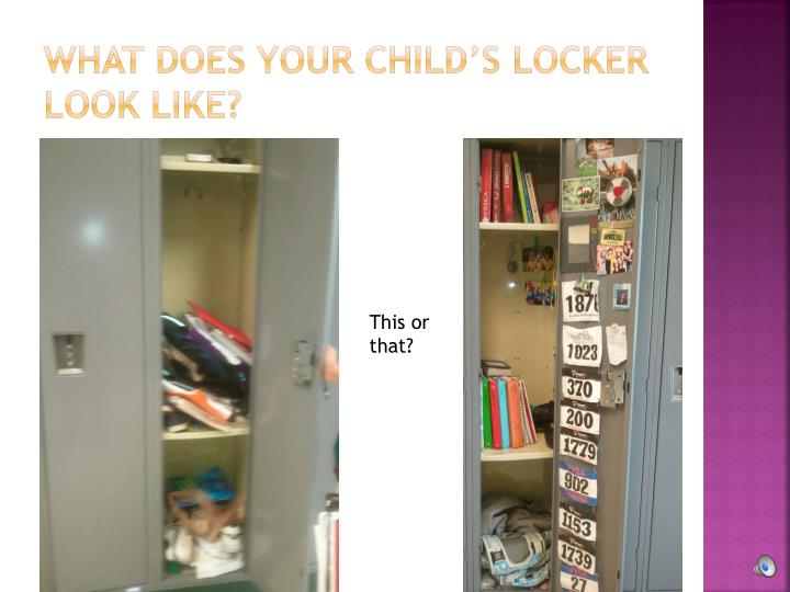 What does your Child's locker look Like?