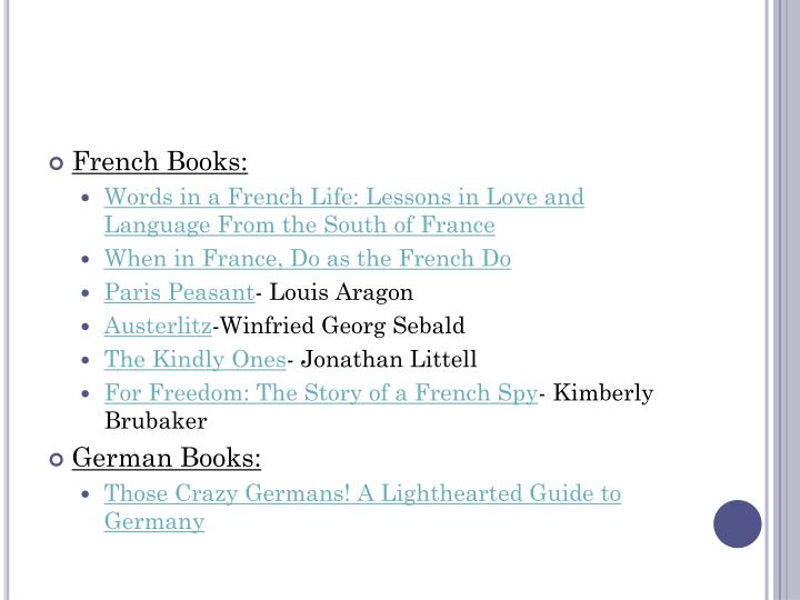 French Books: