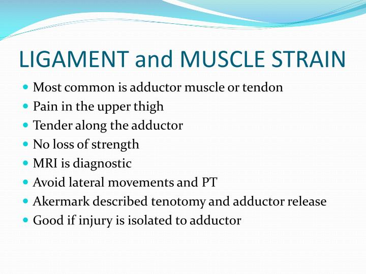 LIGAMENT and MUSCLE STRAIN