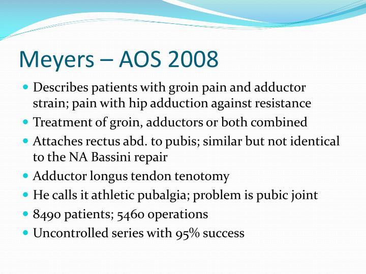 Meyers – AOS 2008