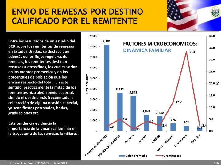 ENVIO DE REMESAS POR DESTINO CALIFICADO POR EL REMITENTE