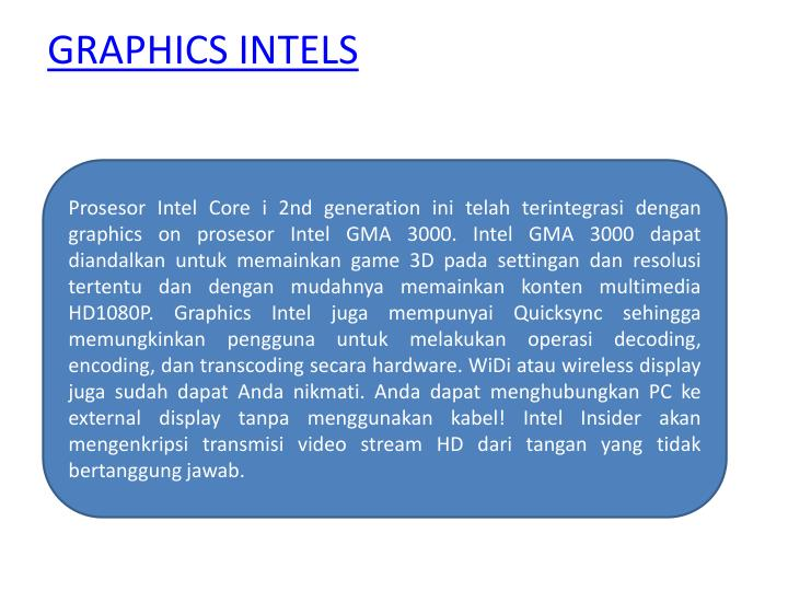GRAPHICS INTELS