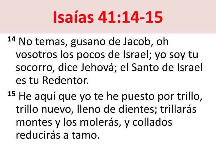 Isaías 41:14-15