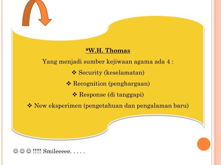 *W.H. Thomas