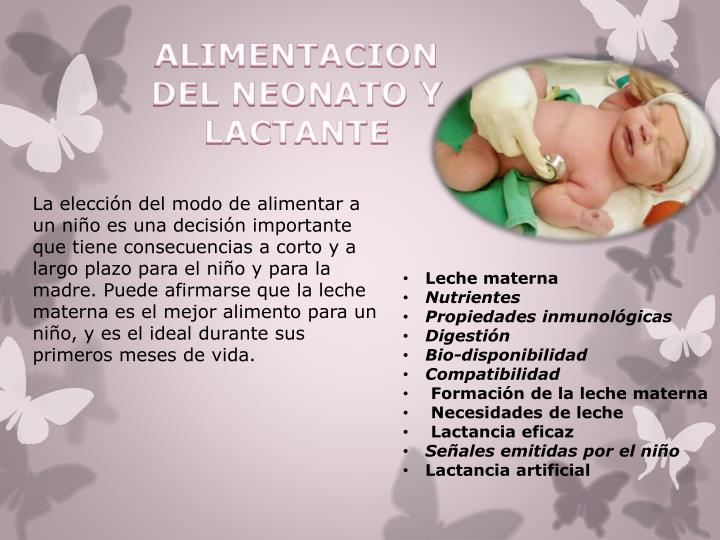 ALIMENTACION DEL NEONATO Y LACTANTE