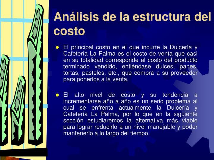 Análisis de la estructura del costo