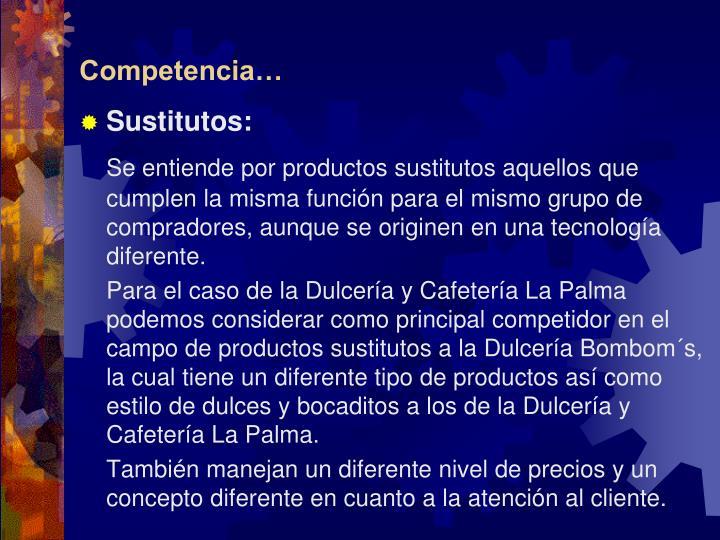 Competencia…