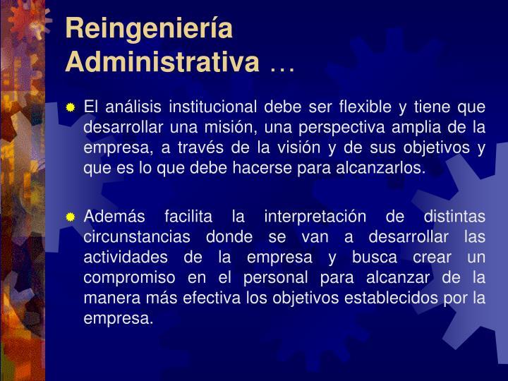 Reingeniería Administrativa