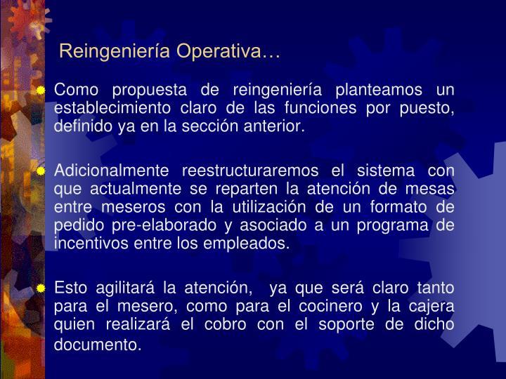 Reingeniería Operativa…
