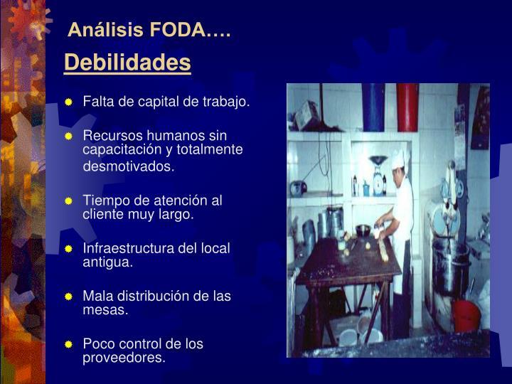 Análisis FODA….