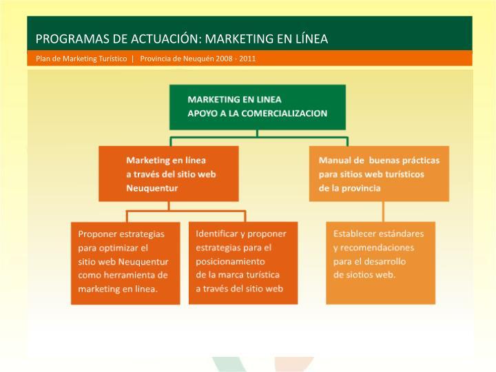 PROGRAMAS DE ACTUACIÓN: MARKETING EN LÍNEA