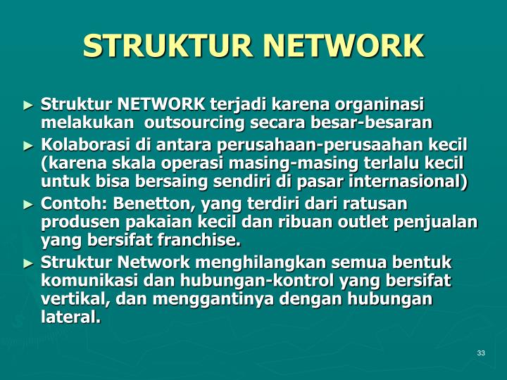 STRUKTUR NETWORK
