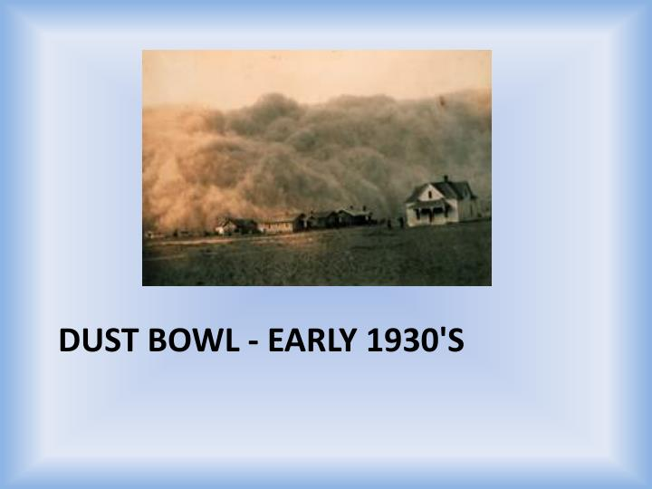 Dust Bowl - Early 1930's
