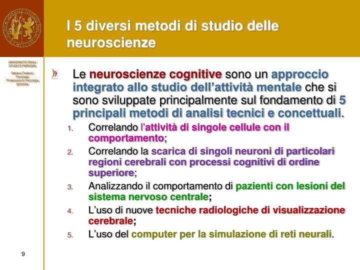 I 5 diversi metodi di studio delle