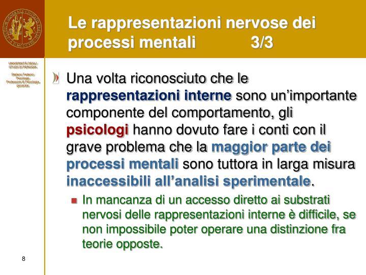 Le rappresentazioni nervose dei processi mentali3