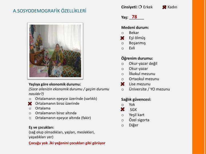 A.SOSYODEMOGRAFİK ÖZELLİKLERİ