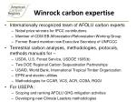 winrock carbon expertise