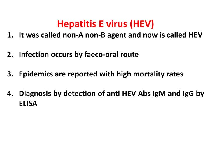 Hepatitis E virus (HEV)