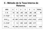 5 m todo de la tasa interna de retorno