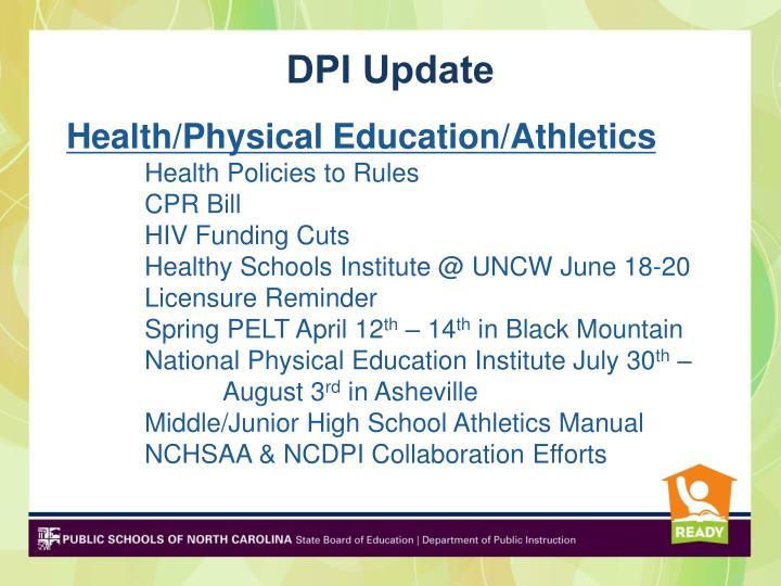 DPI Update