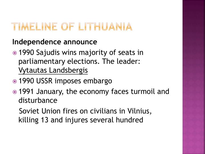 Timeline of Lithuania