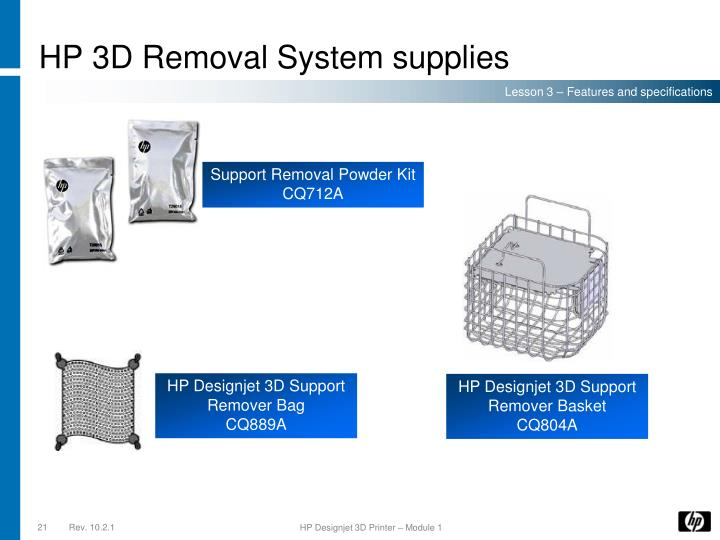 HP 3D Removal System supplies