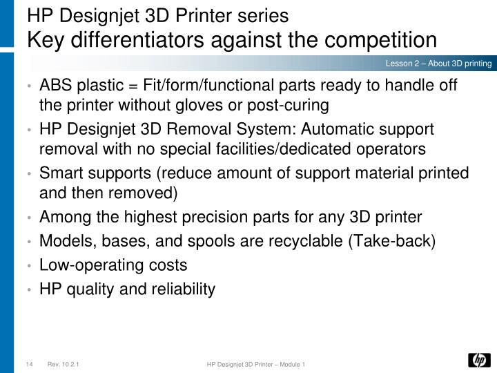 HP Designjet 3D Printer series