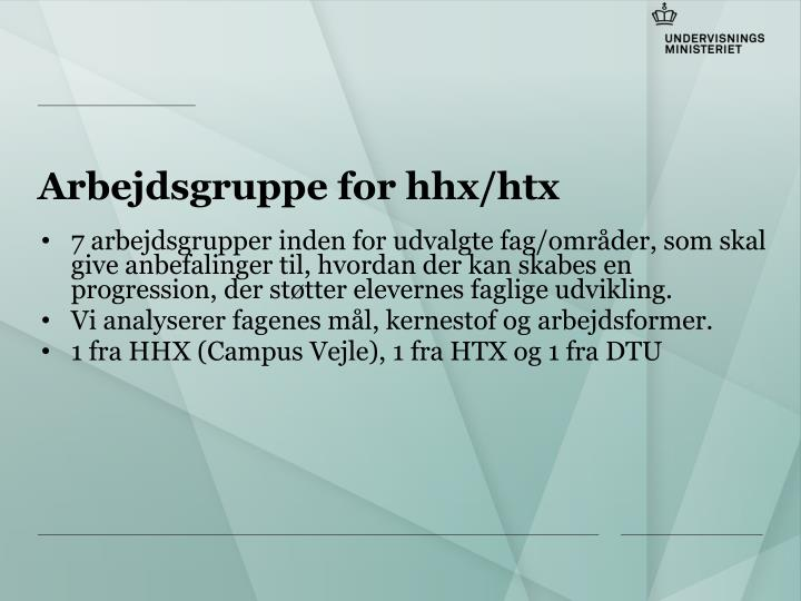 Arbejdsgruppe for hhx htx