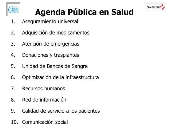 Agenda Pública en Salud