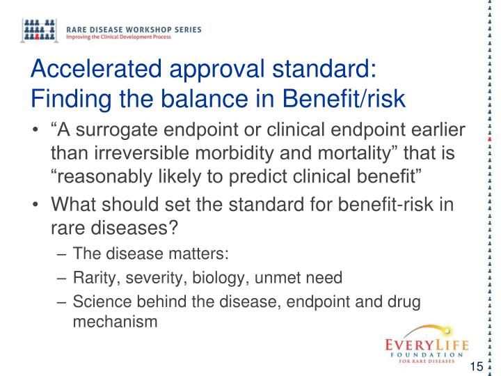 Accelerated approval standard:
