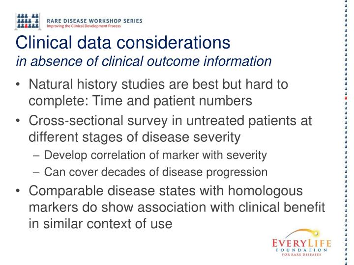 Clinical data considerations