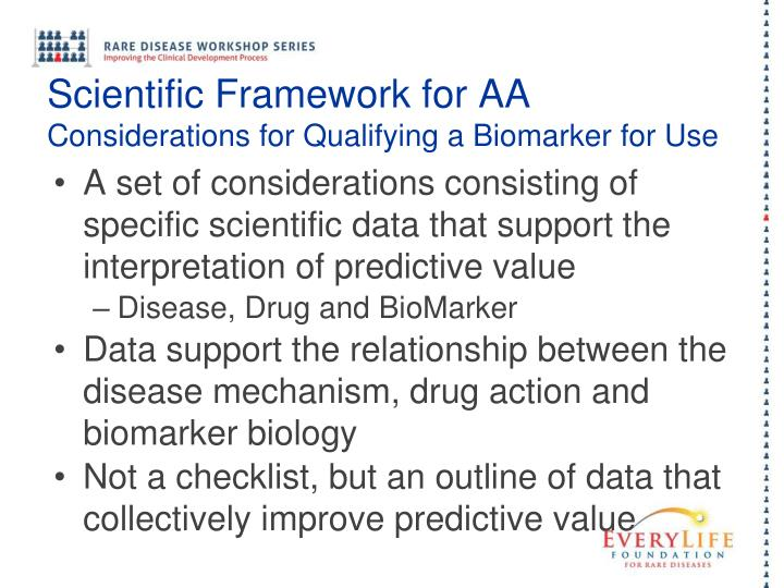 Scientific Framework for AA