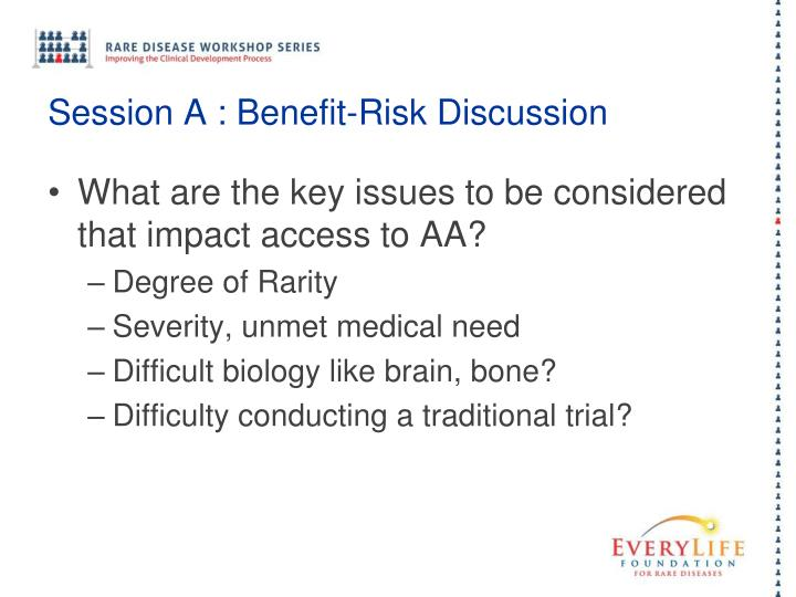Session A : Benefit-Risk Discussion