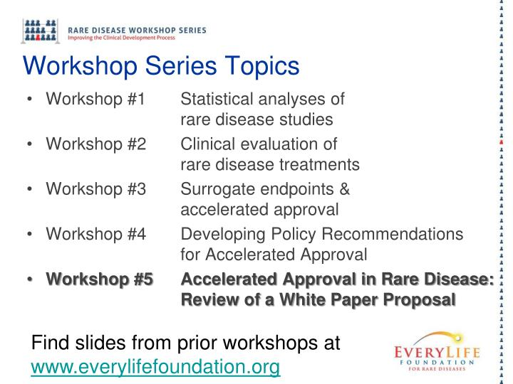 Workshop Series Topics