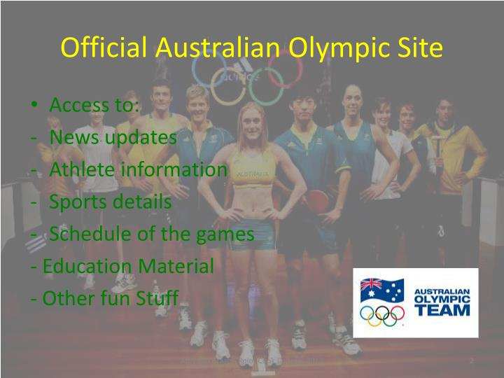 Official australian olympic site