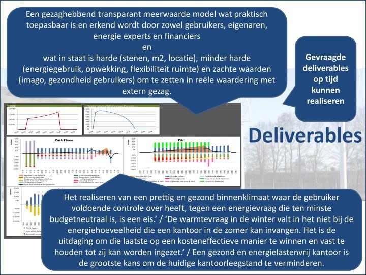 Een gezaghebbend transparant meerwaarde model wat praktisch toepasbaar is en erkend wordt door zowel gebruikers, eigenaren, energie experts en financiers