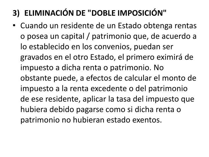 """ELIMINACIN DE """"DOBLE IMPOSICIN"""""""