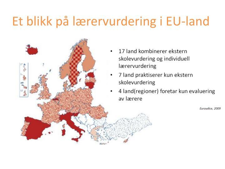 Et blikk på lærervurdering i EU-land
