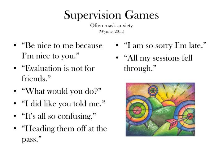 Supervision Games