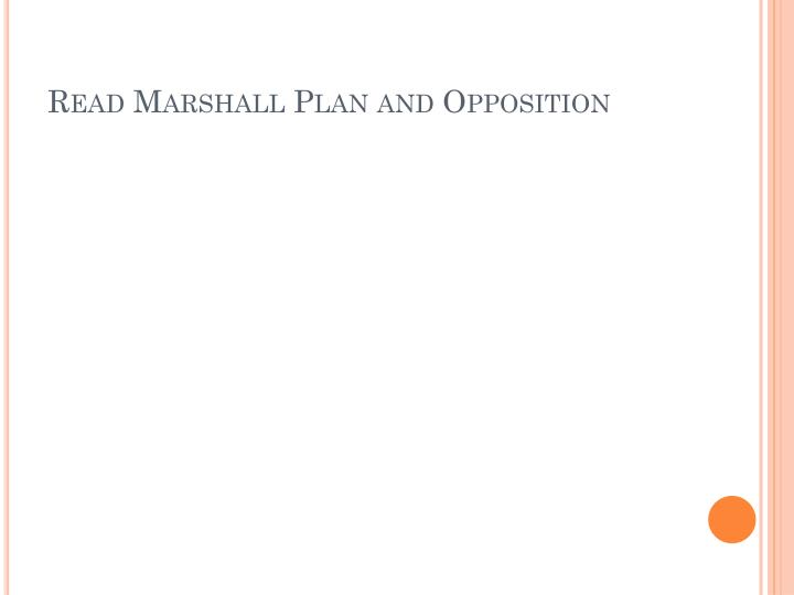 Read Marshall Plan and Opposition
