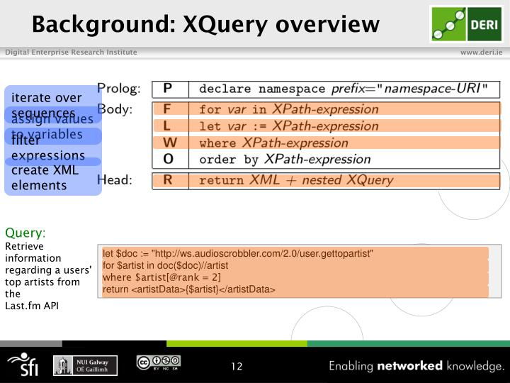 Background: XQuery overview