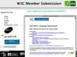 w3c member submission