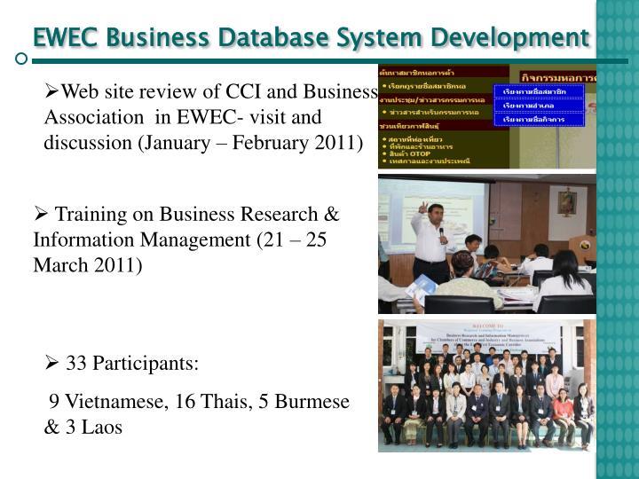 EWEC Business Database System Development