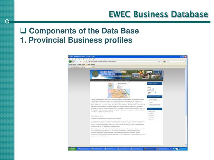 EWEC Business Database