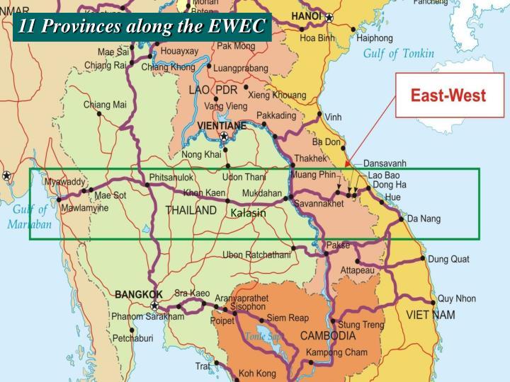 11 Provinces along the EWEC