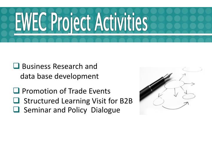EWEC Project Activities